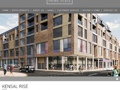 Screen capture of Prime Place Kensal Rise development page at www.primeplace.co.uk