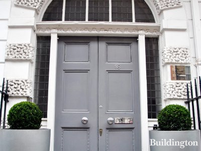 98 Harley Street entrance in 2014.
