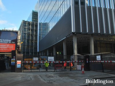 20 Fenchurch Street construction site in December 2012