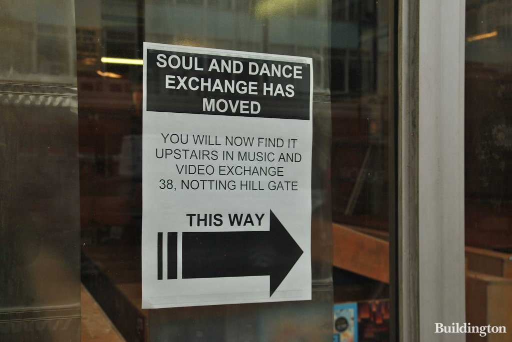 Soul & Dance Exchange has moved to 38 Notting hill Gate