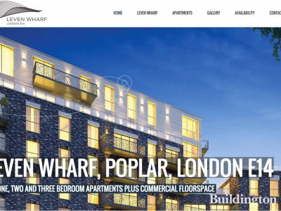 Screen Capture of Leven Wharf development website at www.levenwharf.com.