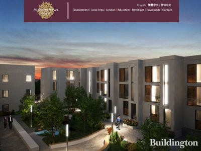 Screen capture of Mulberry Mews website at Mulberrymewsislington.com