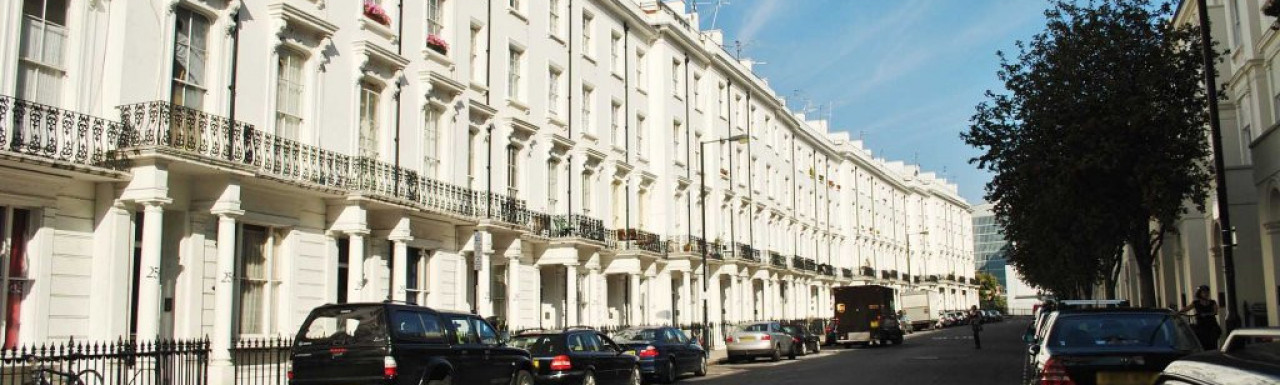North end of Gloucester Terrace in Bayswater, London W2.