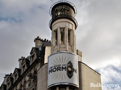 Prince of Wales Theatre playing the The Book of Mormon in February 2014.
