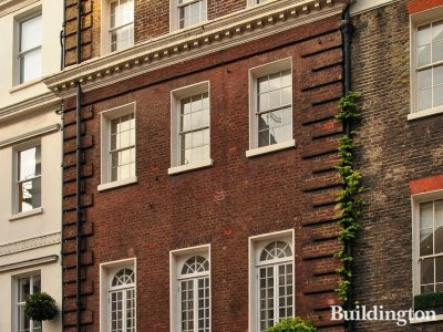 Grade II* listed building at 72 Brook Street in Mayfair, London W1.