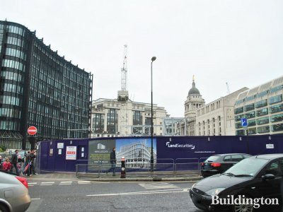 1&2 New Ludgate development site - view from Ludgate Hill