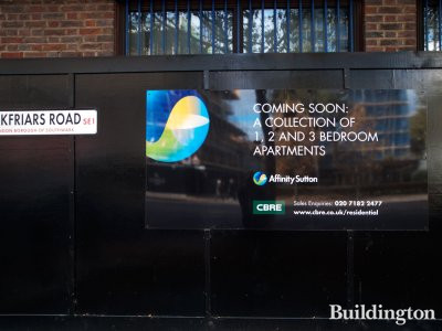 90-92 Blackfriars Road - Coming soon: A collection of 1,2 and 3 bedroom apartments. Affinity Sutton and CBRE.