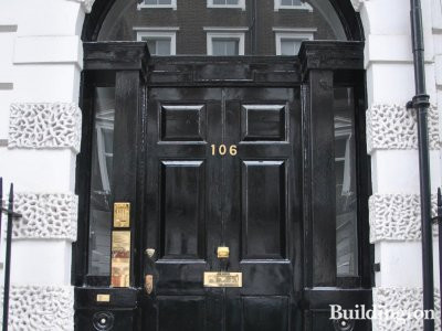 Entrance to 106 Harley Street.