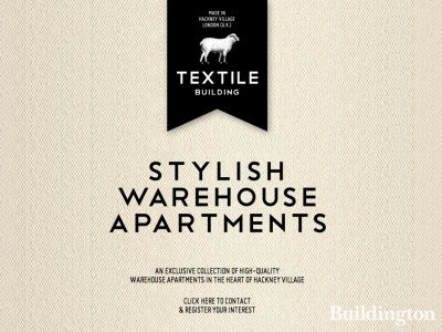 Screen capture of The Textile Building website at www.thetextilebuilding.com