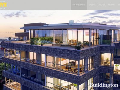 Screen capture of Onyx Apartments page on Taylor Wimpey website www.taylorwimpeycentrallondon.com
