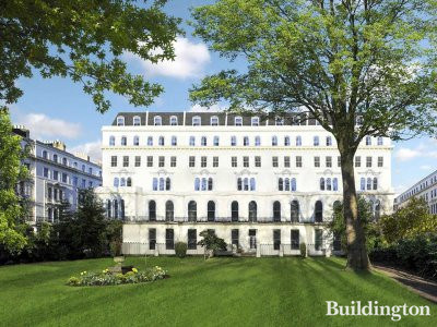 Garden House development on Kensington Gardens Square in Bayswater, London W2.