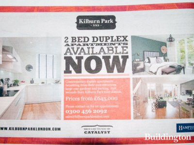 Kilburn Park development advert in Homes & Property, Evening Standard, 5. November 2014