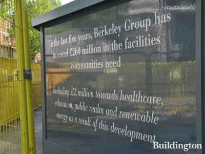 In the last five years Berkeley Group has invested £260 million in the facilities communities need. Including £2 million towards healthcare, education, public realm and renewable energy as a result of this development.