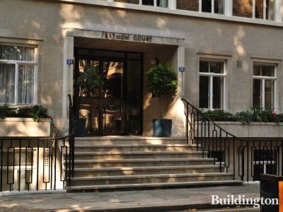 Brymon Court entrance on Montagu Square
