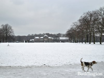 Kensington Palace in the winter.