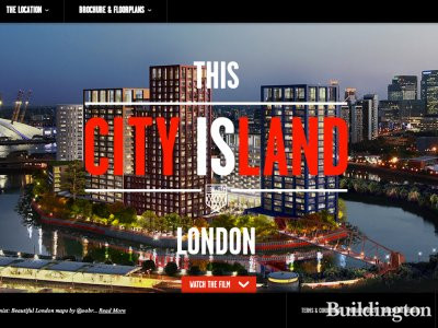 Screen capture of City Island website at www.londoncityisland.com