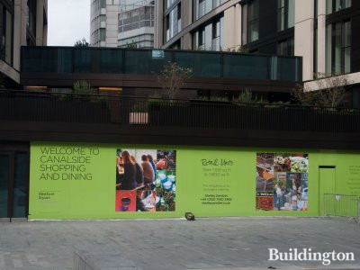Retail units at 3 Merchant Square available through Shelleysandzer.co.uk in October 2014.