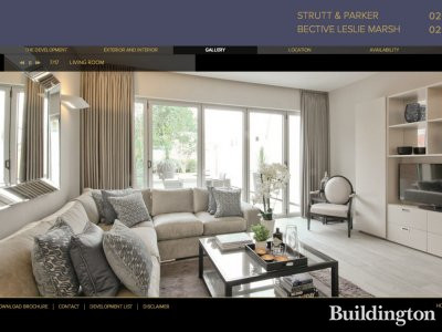 Screen capture of Argyll Place development website at Argyllplacekensington.com