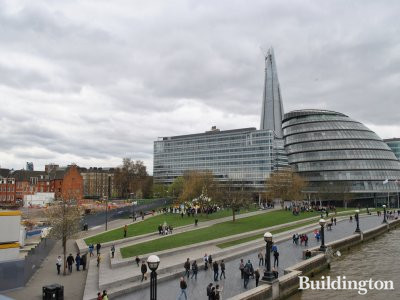 City Hall and More London development next to One Tower Bridge site