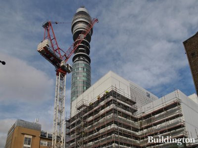 Sainsbury Wellcome Centre and the BT Tower.