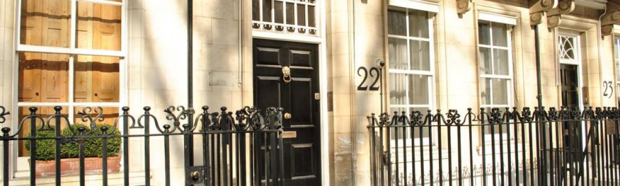 Entrance to 22 Wilton Crescent.