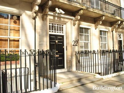 Entrance to 22 Wilton Crescent.