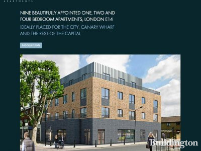 Screen capture of Matlock Apartments website at www.matlockapartments.co.uk