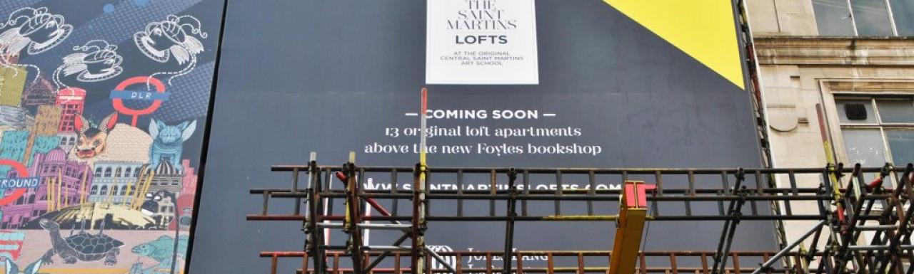 13 original loft apartments above the Foyles bookshop - selling now, 7 remain. The Saint Martins Lofts.