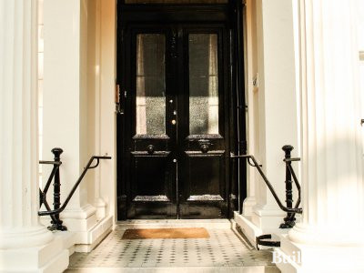 Entrance to 67 Westbourne Terrace in Bayswater, London W2.