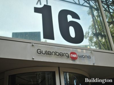 Gutenberg Net Works entrance at 16 Bishop's Bridge Road