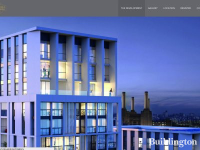 Screen capture of Battersea Exchange page on Taylor Wimpey website