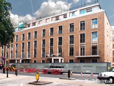 Ebury Square development Ebury Street elevation in July 2014.