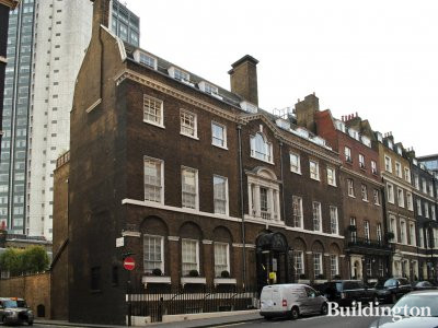 21-23 Curzon Street building in Mayfair, London W1.