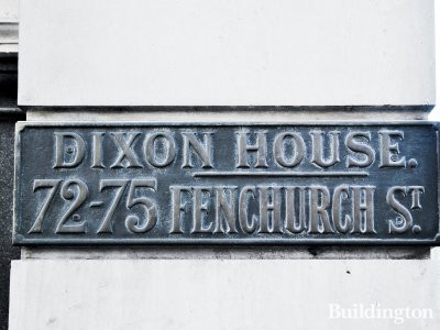 Dixon House at 72-72 Fenchurch Street in London EC3.