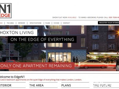 Screen capture of EdgeN1 development website at www.edgen1.co.uk.