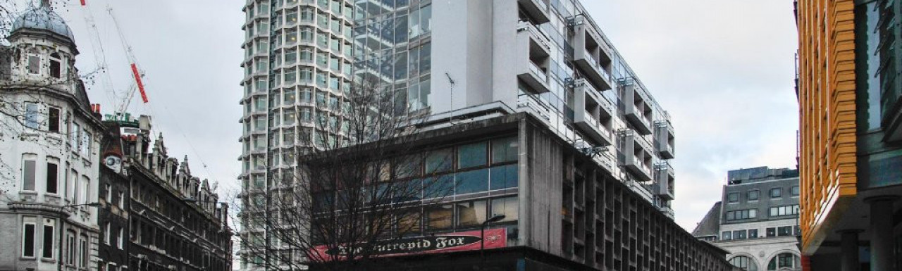 Centre Point House and The Interpred Fox before demolising in 2012
