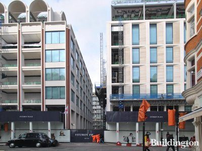 View to Fitzroy Place development from Berners Street in February 2014.