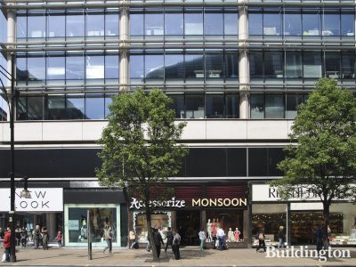 Shops in Portman House - New Look, Accessorize/Monsoon, Russell Bromley, etc.
