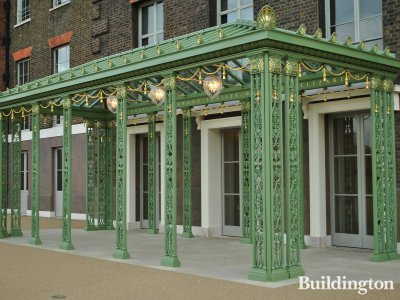 This entrance was built for the celebration of the Diamond Jubilee of Queen Elizabeth II. Kensington Palace.