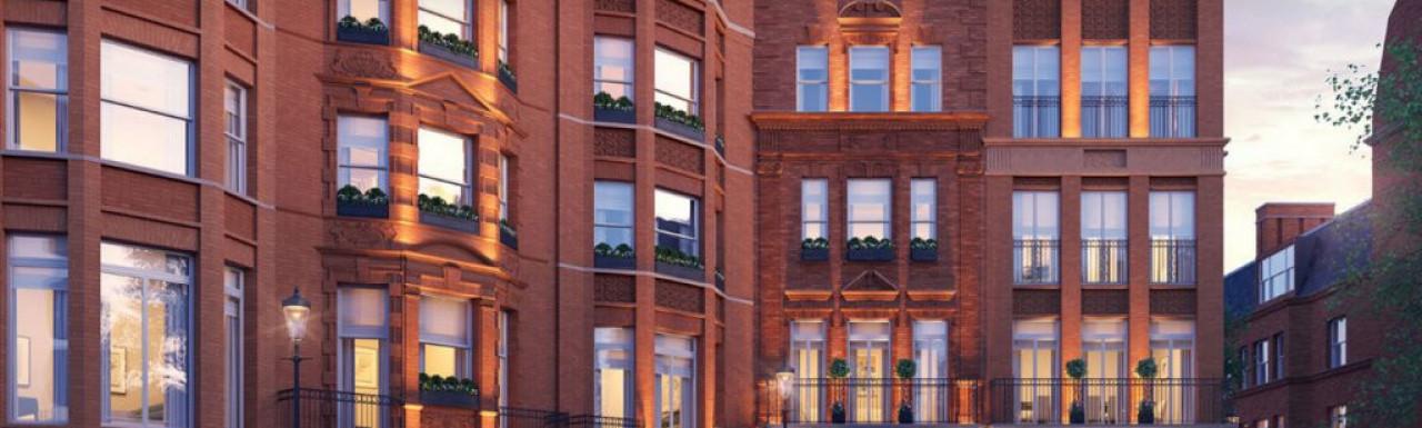 Screen Capture of Kingwood Knightsbridge development on Finchatton website www.finchatton.com.