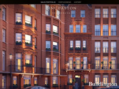 Screen Capture of Kingwood Knightsbridge development on Finchatton website www.finchatton.com.