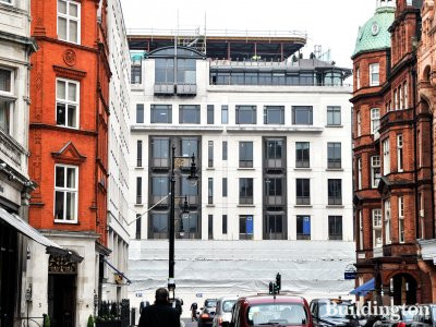30 Berkeley Square development, view from Mount Street in Spring 2014.
