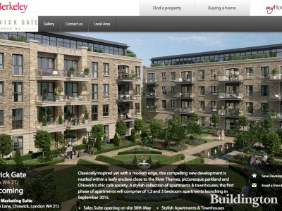 Screen capture of Chiswick Gate development website at Berkeleygroup.co.uk