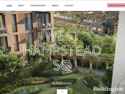 Screen capture of West Hampstead SQ website at www.westhampsteadsq.com.