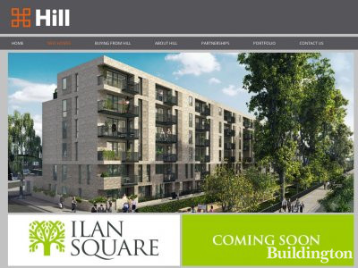 Screen capture of Ilan Square development page on Hill website