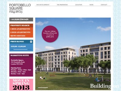 Screen capture of Portobello Square development at www.postobellosquare.co.uk in November 2012