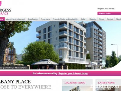 Screen capture of Burgess Terrace development website at Burgessterrace.co.uk in November 2013.