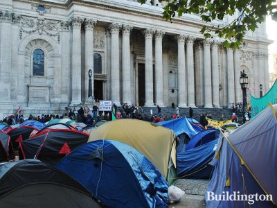 'Occupy London' camp outside St Paul's Cathedral
