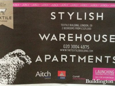The Textile Building advert in Homes & Property/Evening Standard