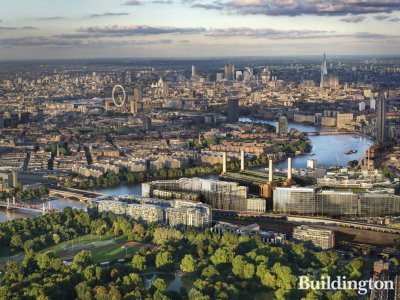Aerial view to Battersea Power Station